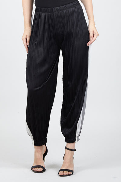 Striped Side Trousers - Izabel London