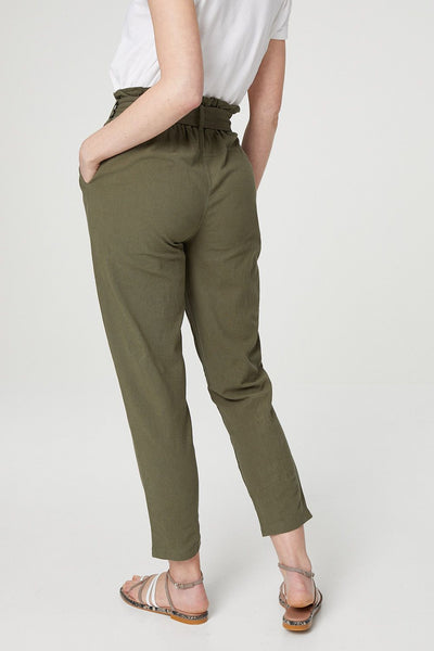 Paperbag Waist Trousers - Izabel London