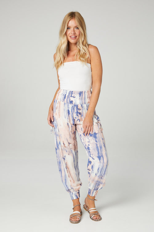 Tie Dye High Waist Trousers