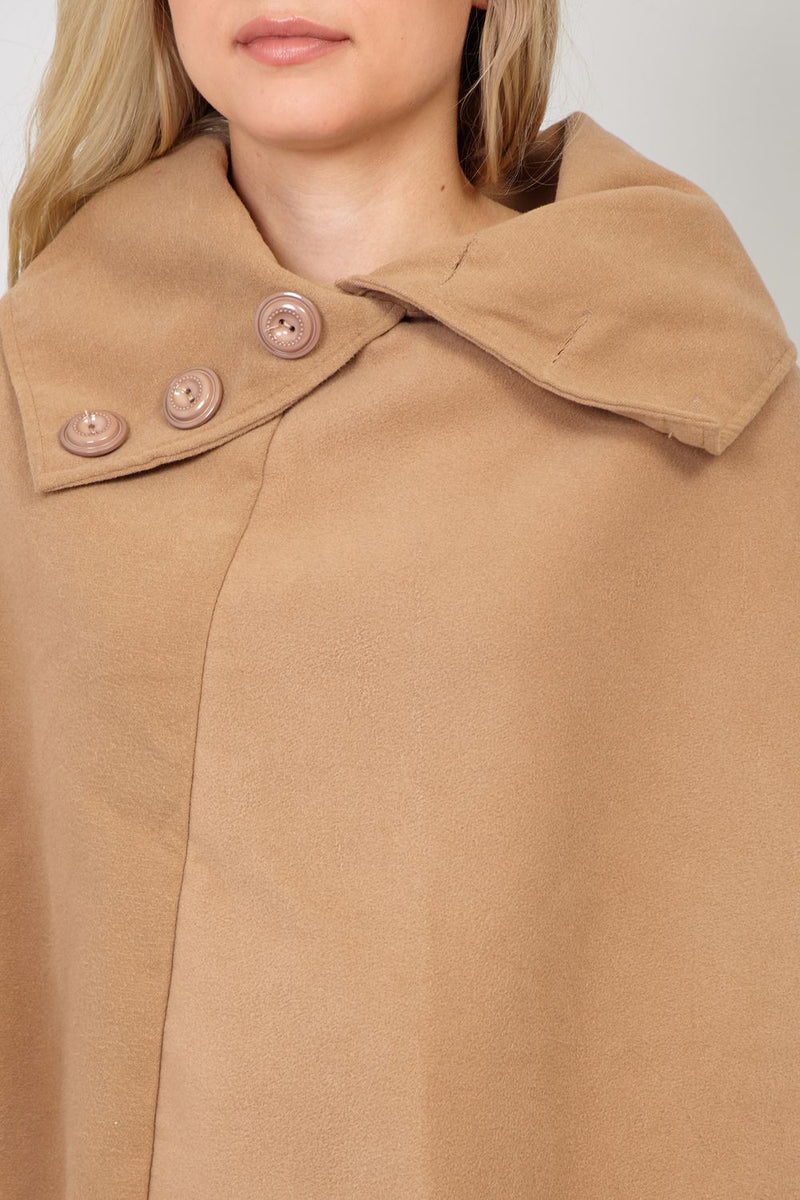 Brown | Roll Neck Poncho