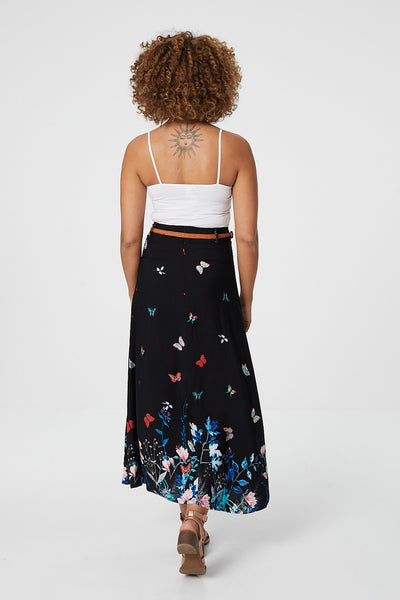 | Butterfly Print Maxi Skirt | Izabel London