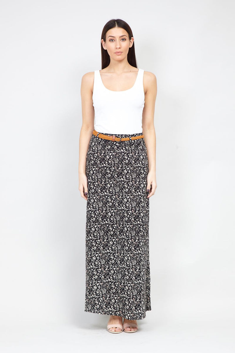 a0c052a1a Ditsy Floral Belted Maxi Skirt – Izabel London
