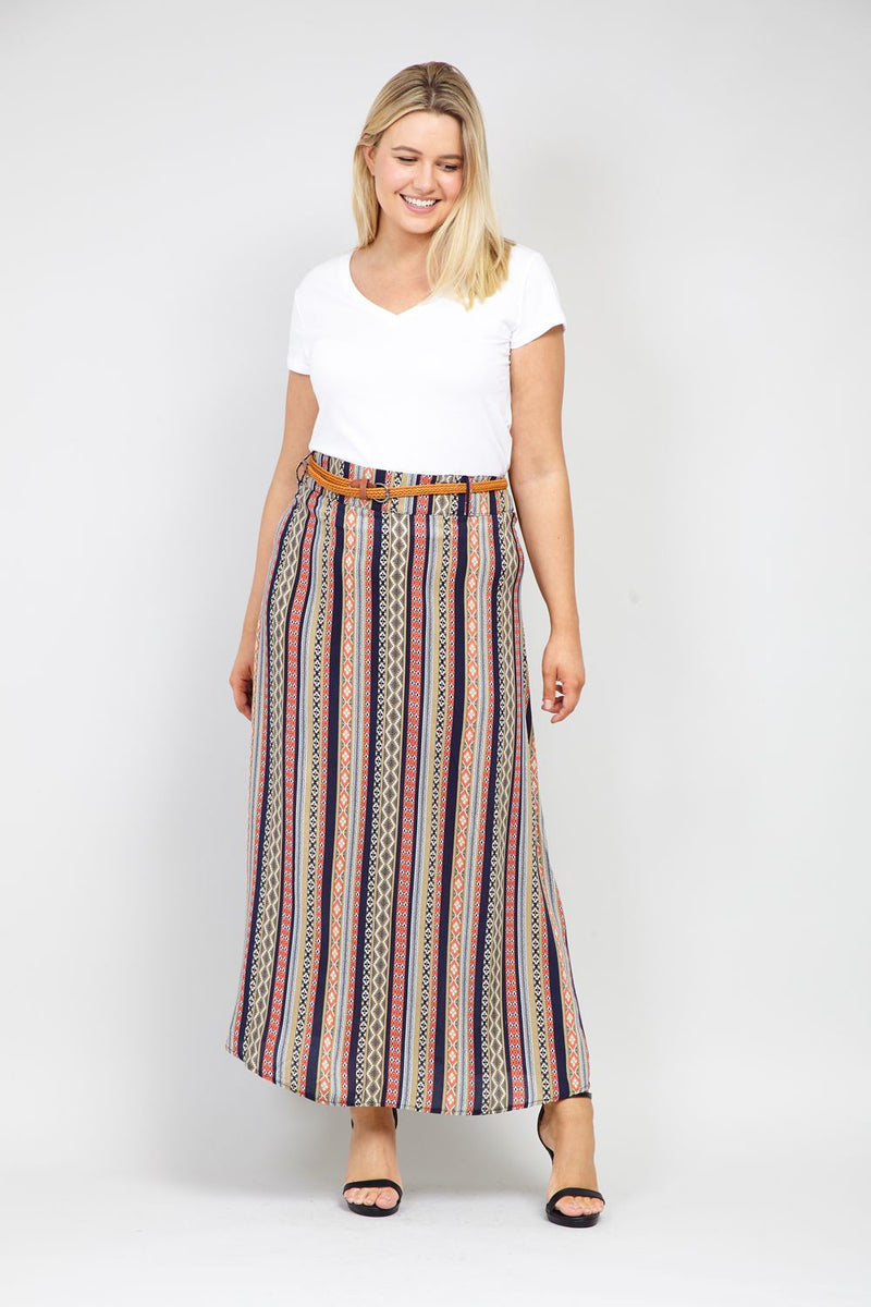 a80d20645 Aztec Print Maxi Skirt – Izabel London