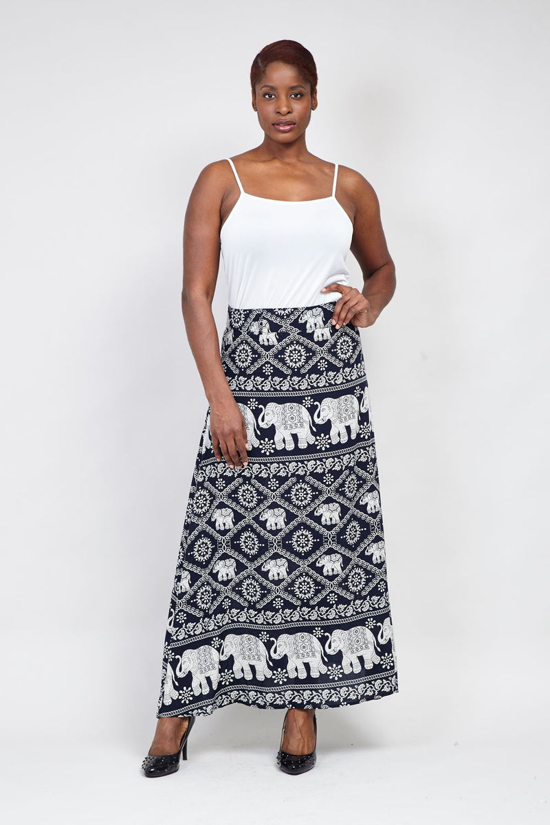 02f0cff9f Elephant Print Maxi Skirt – Izabel London