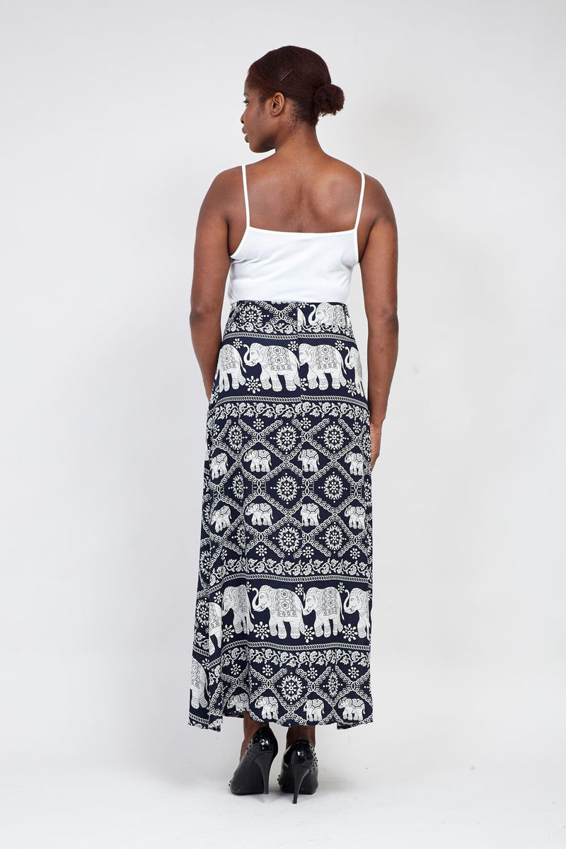 c96d98d5dd0 Curve Elephant Print Maxi Skirt - Izabel London