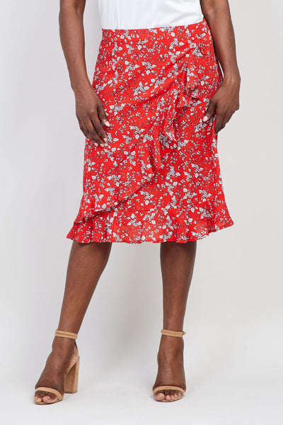 | Curve Ruffle Front Pephem Skirt | Izabel London