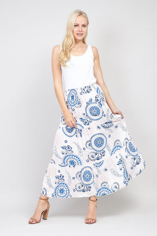 Kaleidoscope Print Maxi Dress