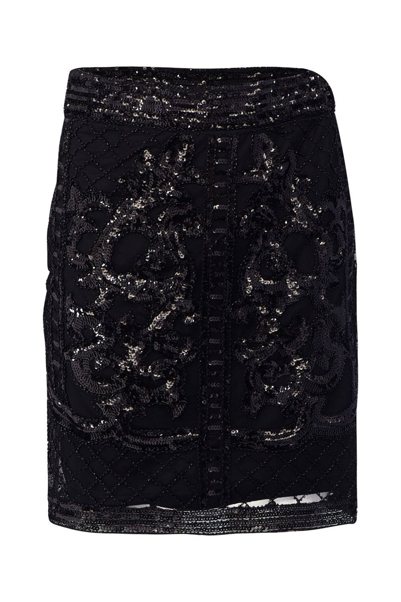Black | Sequinned Mini Skirt