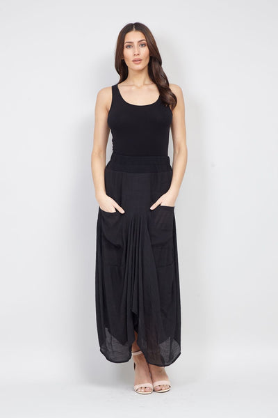 Black | Floaty Sheer Skirt | Izabel London