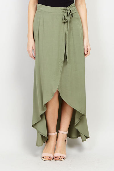 Wrap Maxi Skirt - Izabel London