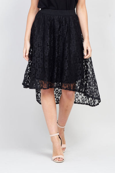 | Lace Asymmetric Skirt | Izabel London