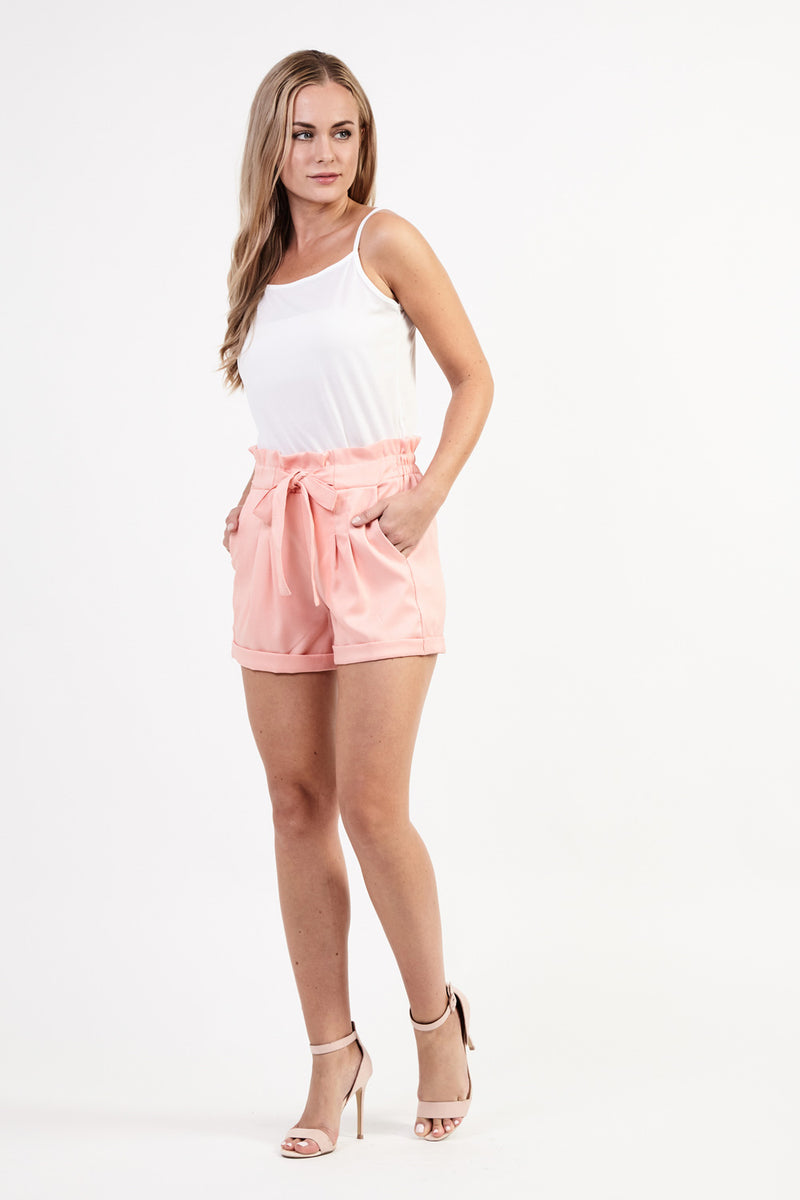 Paperbag Waist Shorts - Izabel London