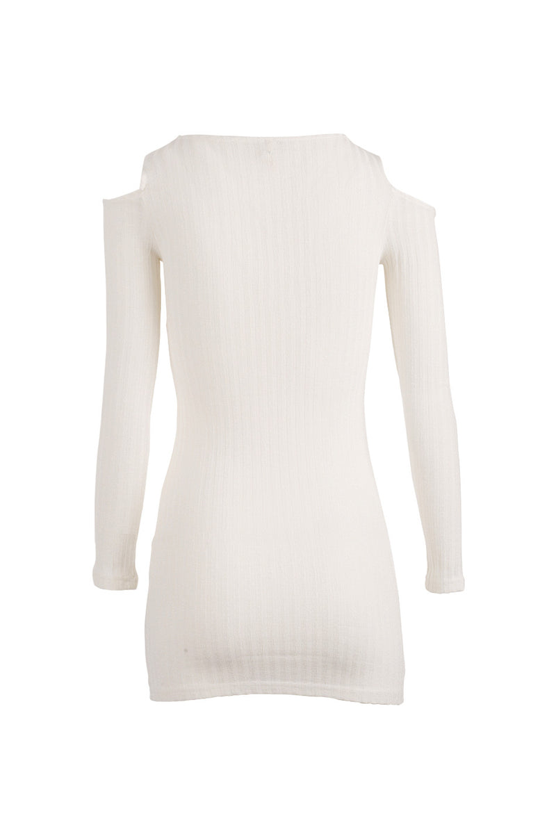 Ivory | Cold Shoulder Jumper Dress