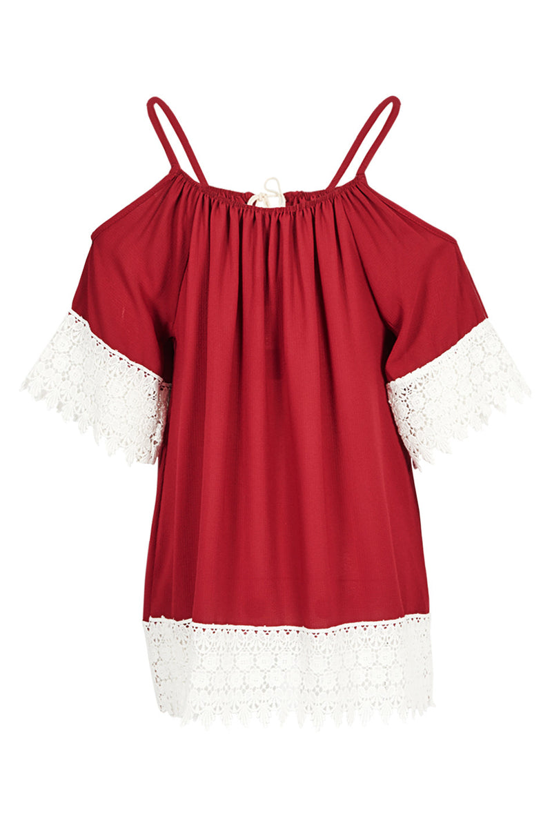 Cold-Shoulder Gypsy Tunic Top - Izabel London