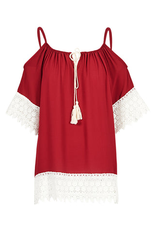Cold-Shoulder Gypsy Tunic Top