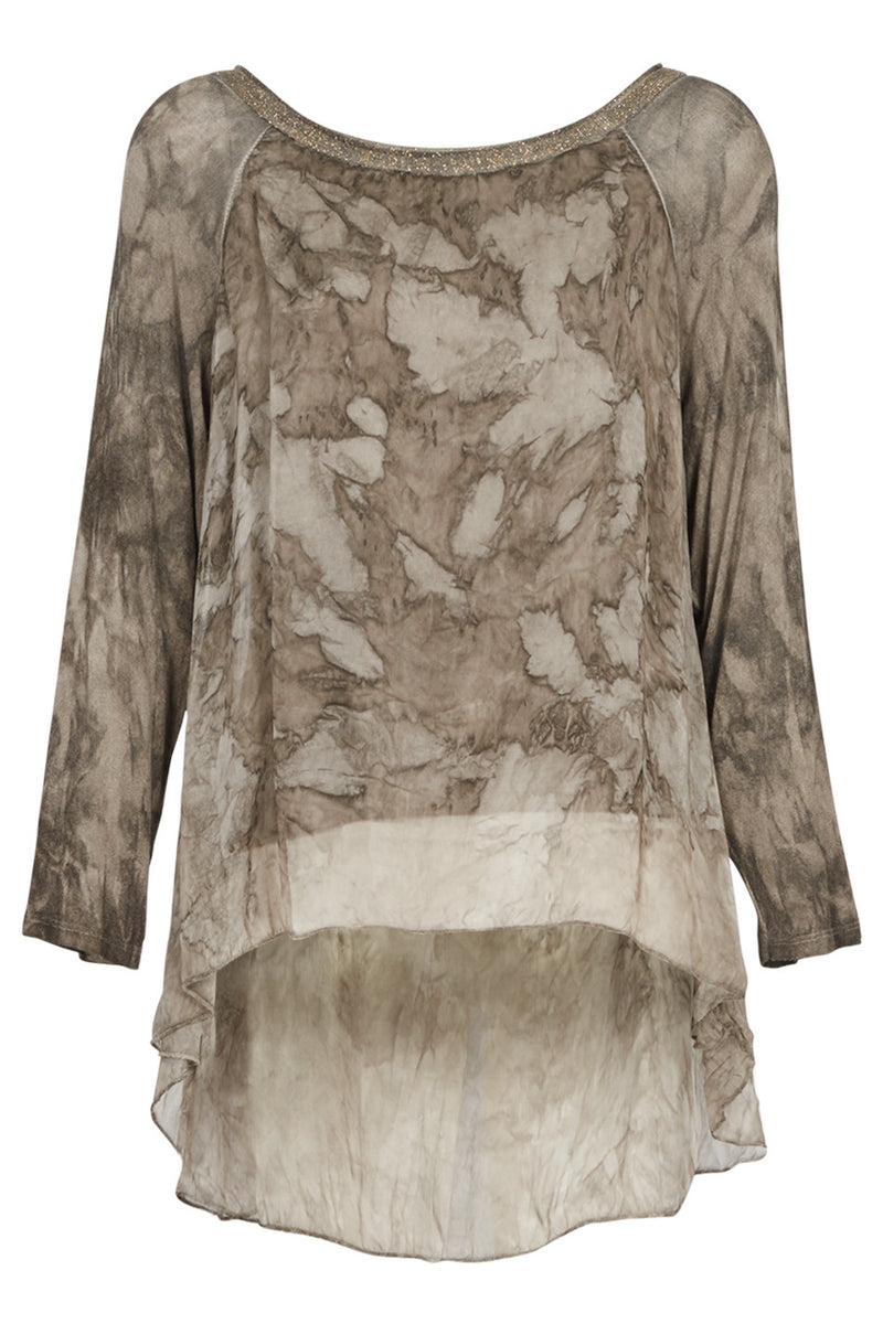 Tie Dye Tunic Top - Izabel London