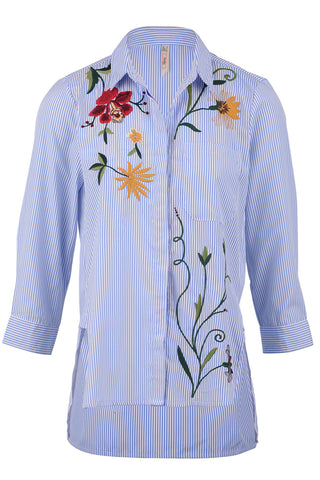 Floral Embroidered Bardot Dress