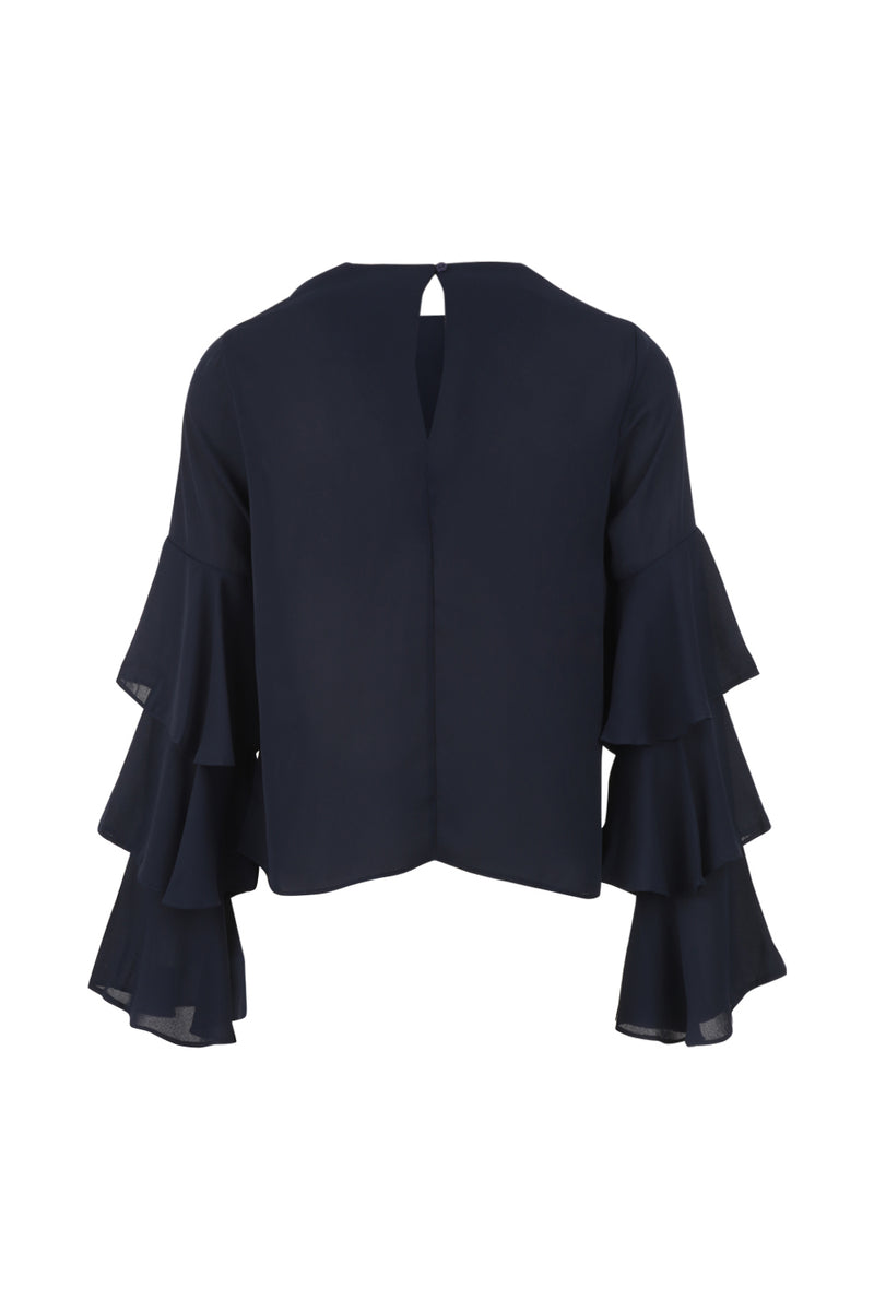 Ruffle Sleeve Top - Izabel London