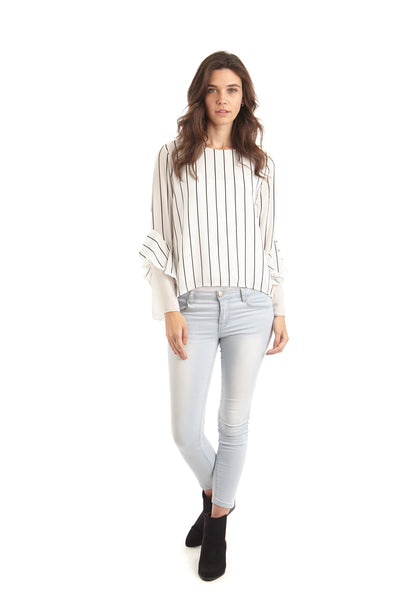 Striped Office Top - Izabel London