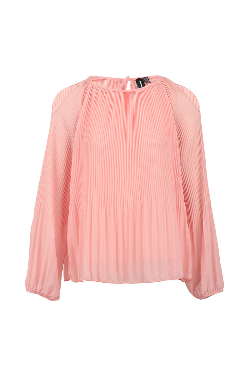 Pink | Soft Drape Shoulder Reveal Top