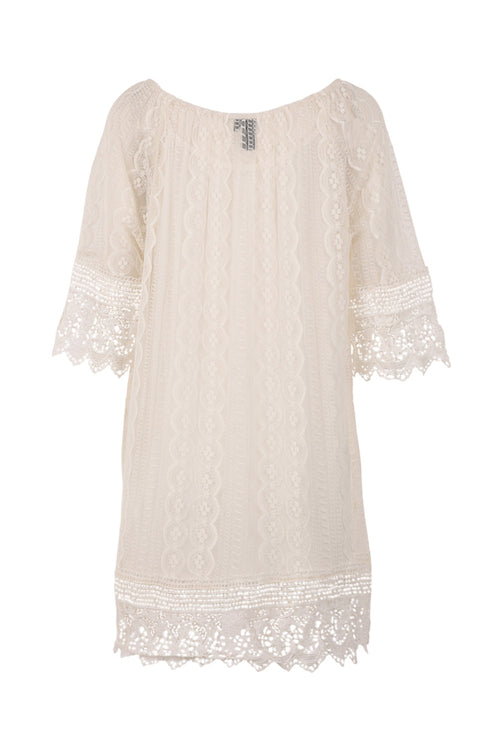 Crochet Lace Tunic - Izabel London