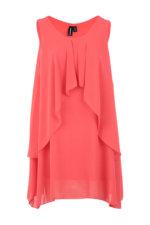Layered Sleeveless Tunic - Izabel London