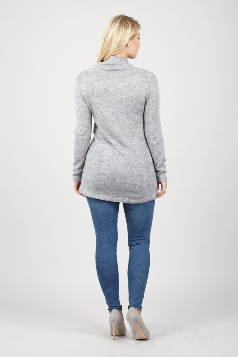 Button Neck Jumper - Izabel London