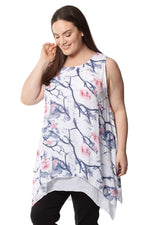 Curve Floral Layered Top - Izabel London