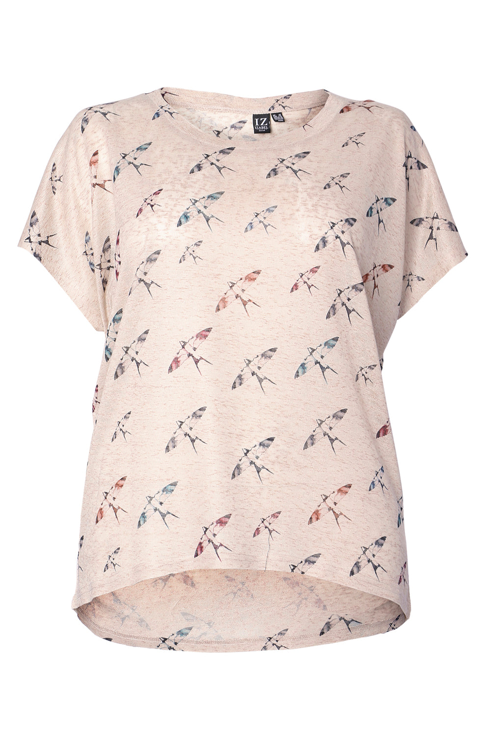 Curve Dragonfly Print Tee - Izabel London