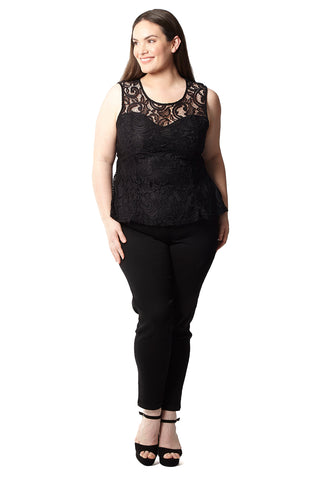 Plus Size Crochet Trim Bardot Top
