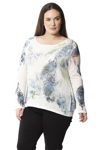 Plus Size Floral Tunic Top
