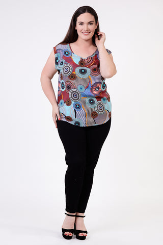 Mosaic Oversized Top