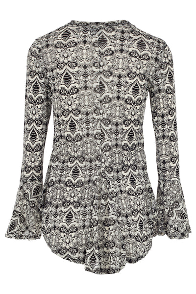 Baroque Flute Sleeve Top - Izabel London