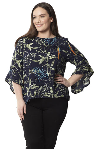 Plus Size T-Shirt With Mexican Inspired Print