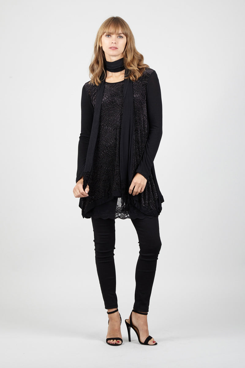 Damask Hanky Hem Tunic - Izabel London