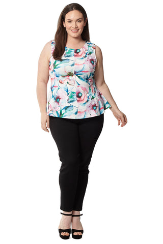 Plus Size Butterfly Print Dress