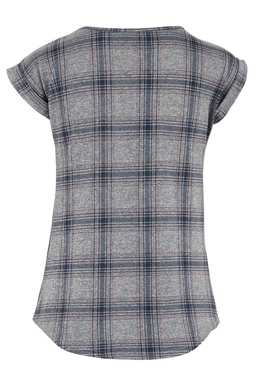 Checked Shell Top - Izabel London