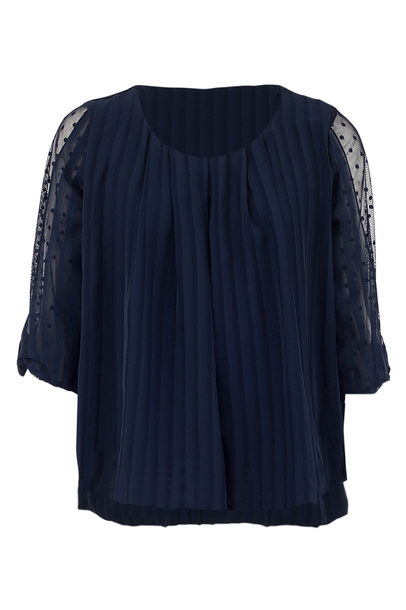 Sheer Sleeve Blouse - Izabel London