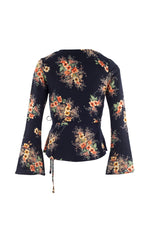 Floral Wrap Top - Izabel London
