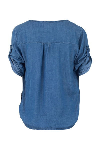 Denim Tencel Blouse - Izabel London
