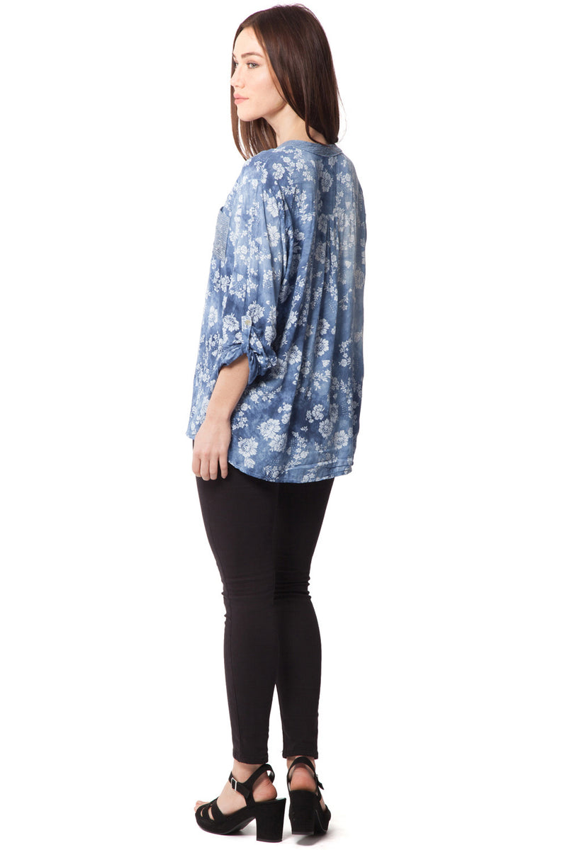 Flower & Sequin Top - Izabel London