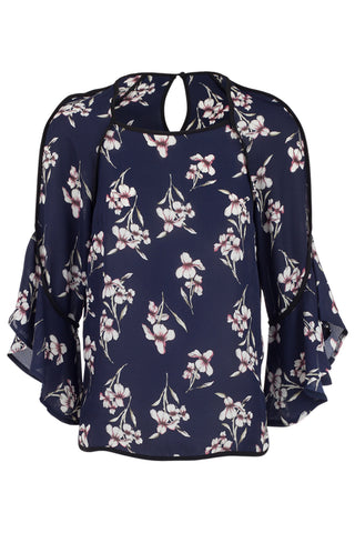 Blurred Flower Oversized Top