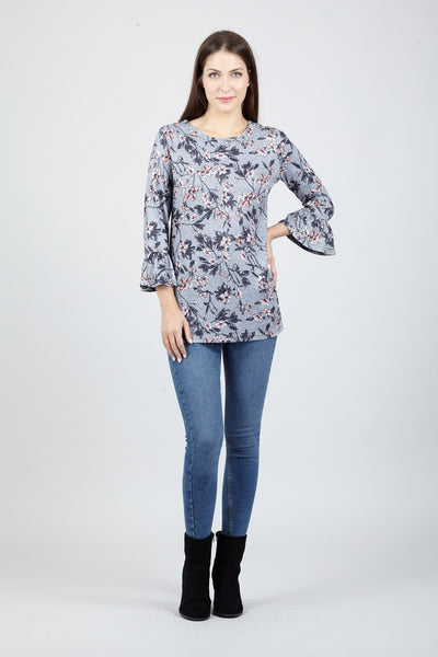 Flare Sleeve Top - Izabel London