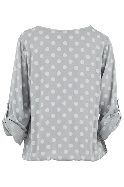 Polka Dot Blouse - Izabel London