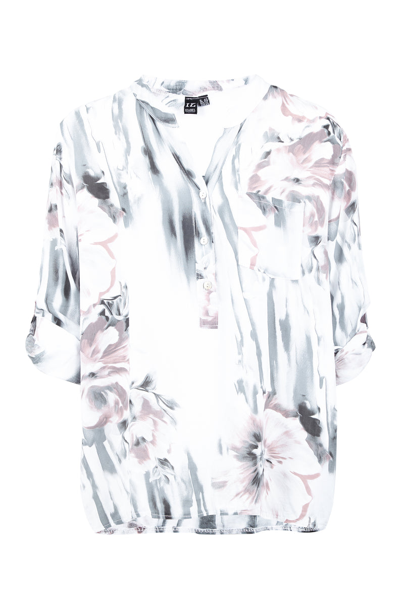 White | Floral Tunic Top