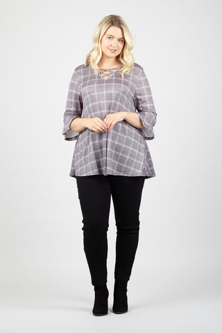 Curve Roll Neck Tunic Top