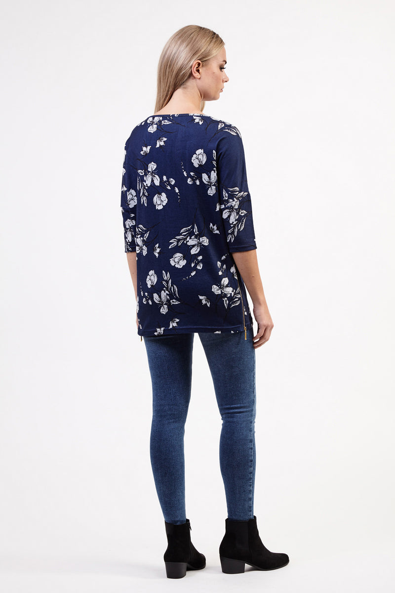 Floral Cross Front Top - Izabel London