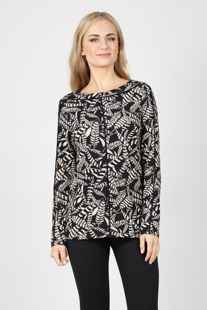 cb9ed839a68 Abstract Knit Top - Izabel London
