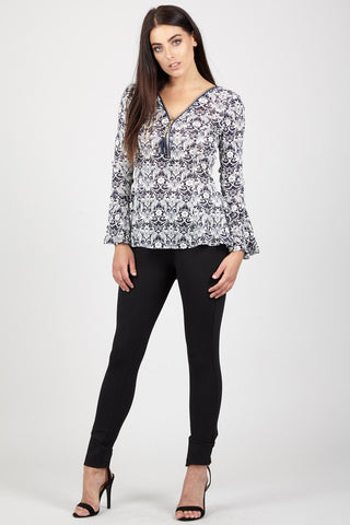 Lace High Low Blouse