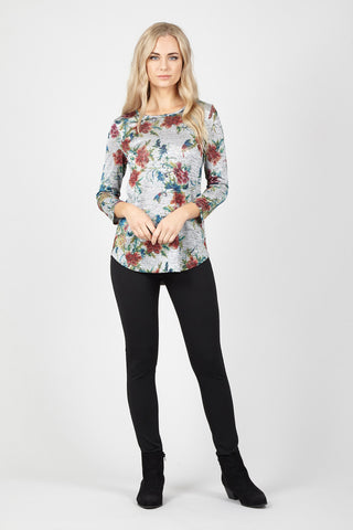 Butterfly Print Fitted T-Shirt